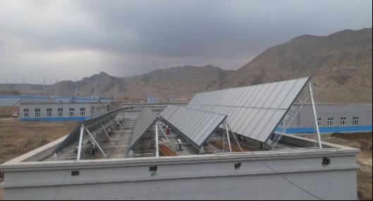 疆雪峰太阳能热水系统工程