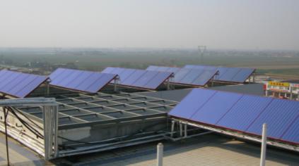 西安汤澎眼科医院太阳能生活热水系统