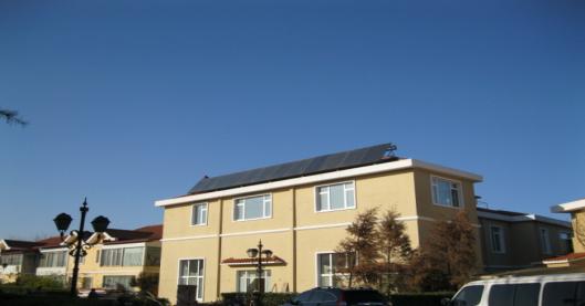 北京顺义某别墅太阳能热水系统工程