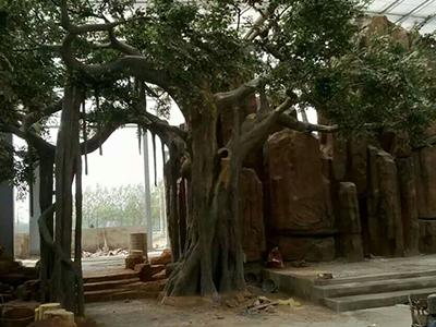 水泥树景观