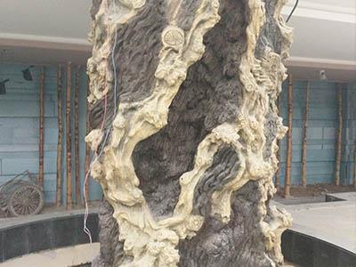 室外水泥树仿真