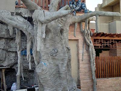 室外水泥树景观