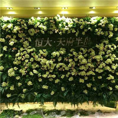 仿真花瓣绿植墙