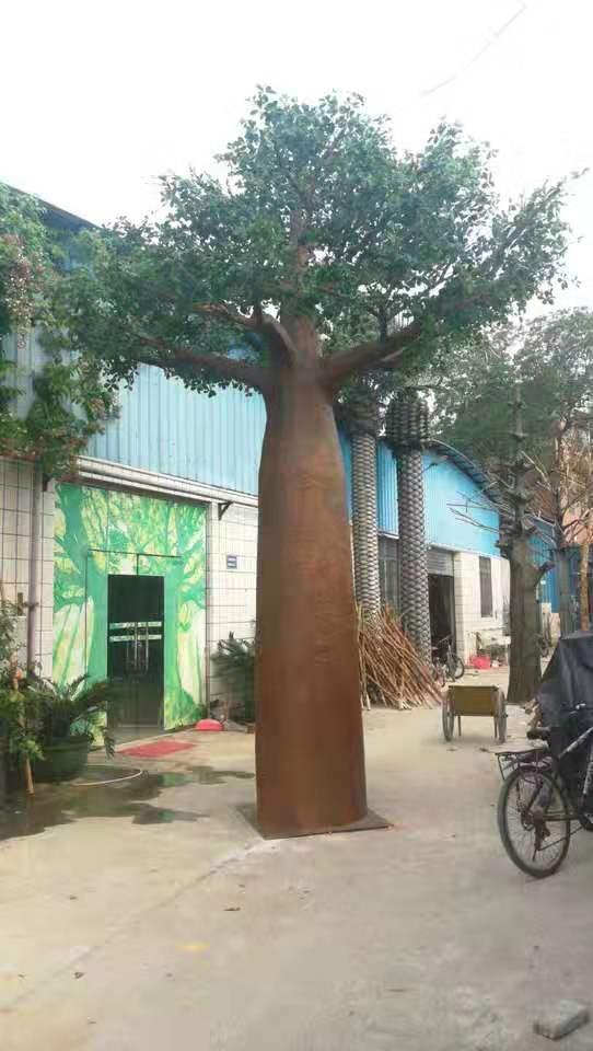 水泥假树 榕树