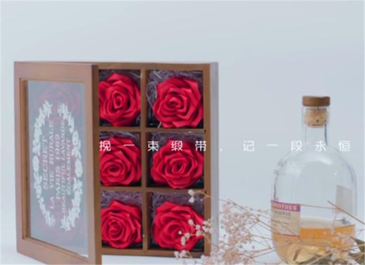 木盒玫瑰制作
