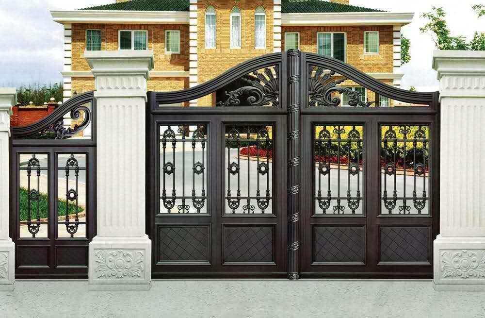 不同类型的别墅铝艺大门安装方法