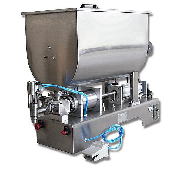 攪拌醬類電動灌裝機