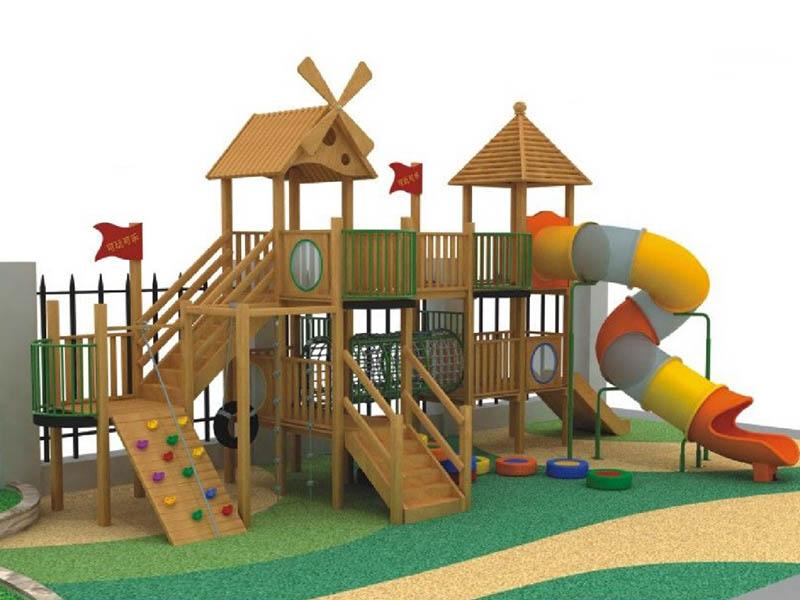 木质幼儿滑梯