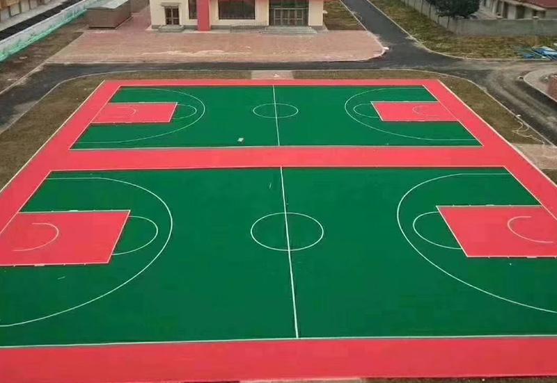 兰州篮球场室外悬浮地板