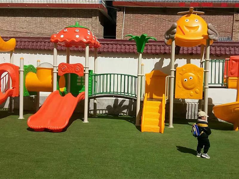 兰州幼儿园滑梯安装