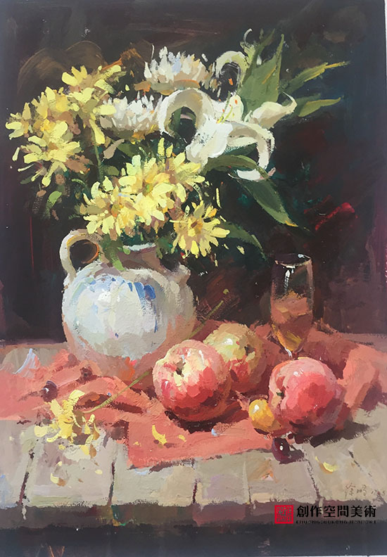 桌子上的花