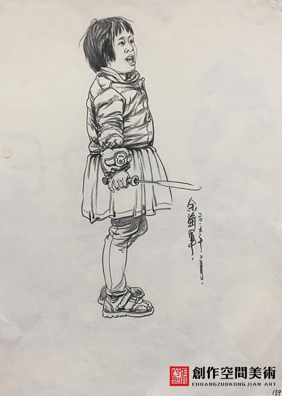 老师侧面简笔画手绘