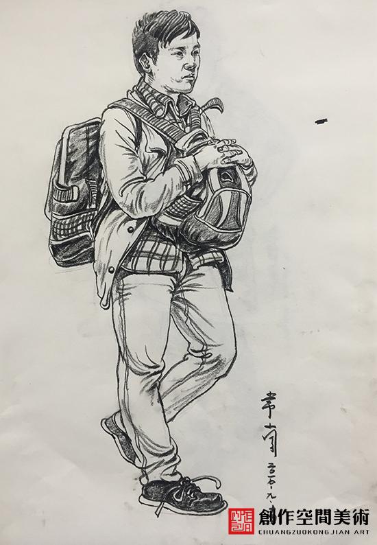 兰州高考美术培训班作品-男孩