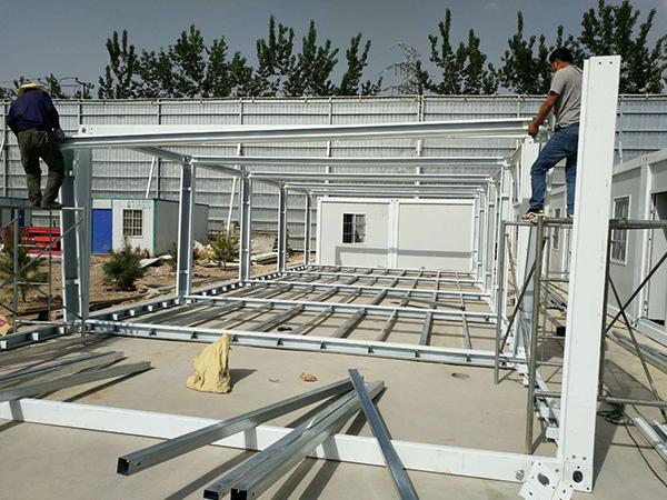 兰州奥体中心快速房安装项目
