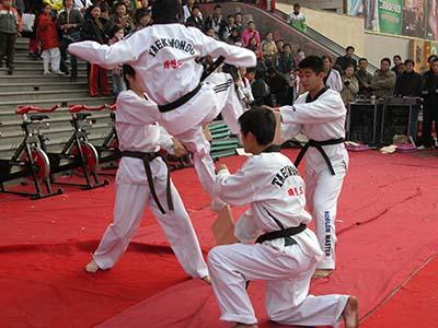 庆阳跆拳道表演