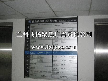 医院楼层指示牌
