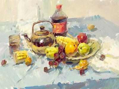水果类色彩静物