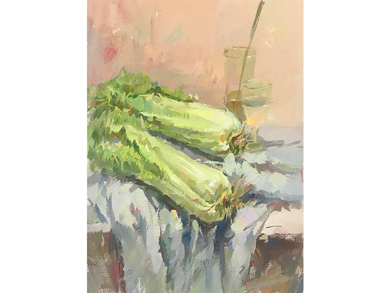 蔬菜類色彩靜物