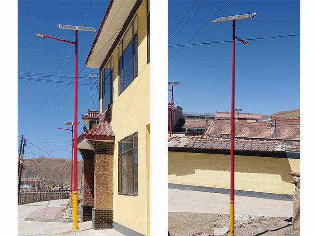 扎油乡菜园子棚户区太阳能路灯改造
