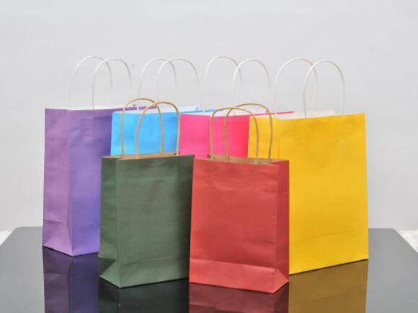 彩色手提纸袋