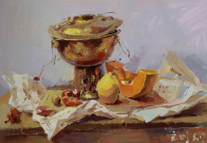 色彩作品- 铜锅子
