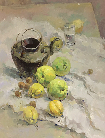 陶瓷水壶静物色彩