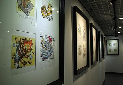 高考美术作品展厅