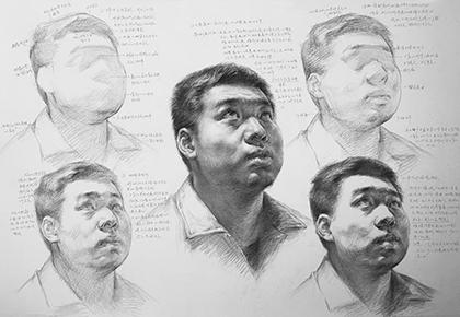 人物头像素描步骤