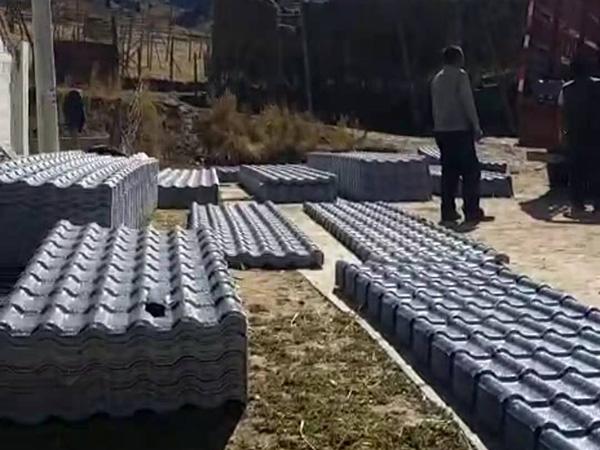 甘南碌曲县毛日电塘树脂瓦改造项目5万米