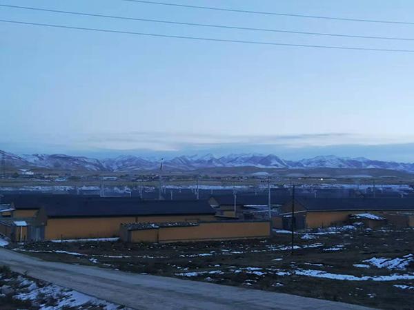 甘南下河县桑科镇十五万米树脂瓦改造工程