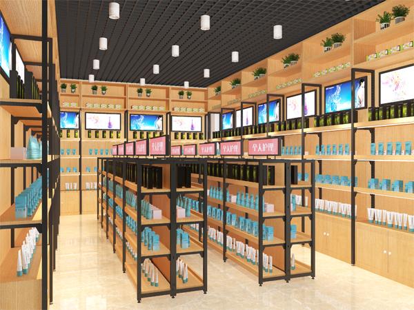 天水木制化妆品店货架
