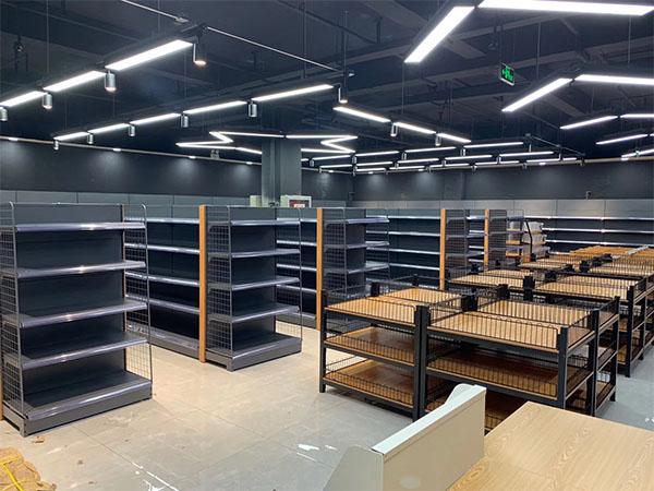 超市鋼木貨架有什么優點?