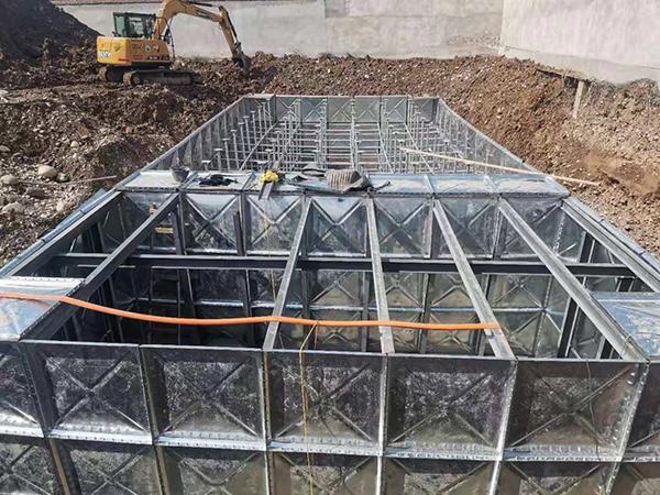 和政县吉美包装336立方BDF地埋水箱