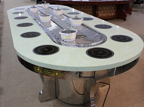 自動旋轉火鍋桌