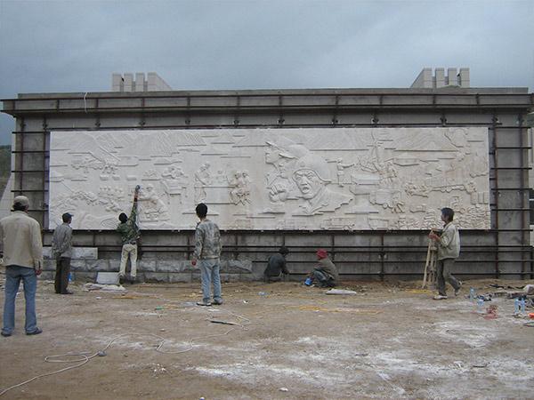 兰州部队砂岩浮雕定制