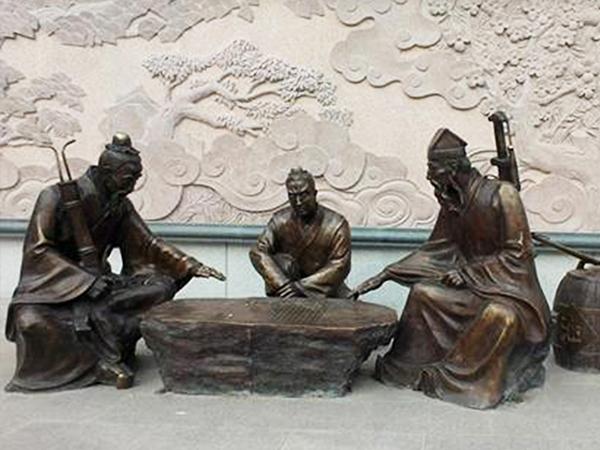 兰州人物锻铜雕塑