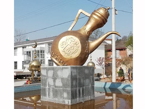 兰州城市锻铜雕塑