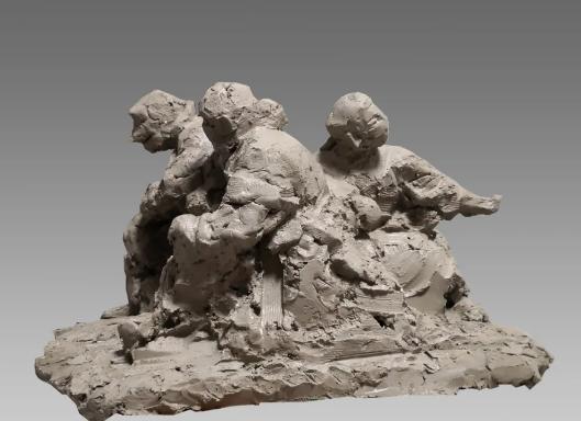 塑大爱 战疫情丨刘文凯作品《逆行者》《出征的天使》《爱的坚守》