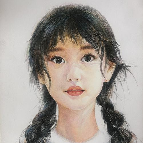 人物素描女孩的画法