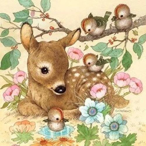 彩铅-梅花鹿