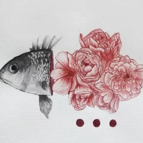 插画-鱼与玫瑰