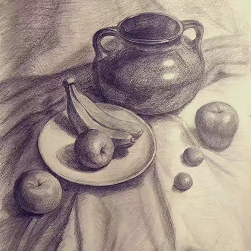 素描-罐子