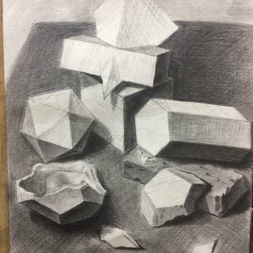 素描-多面体
