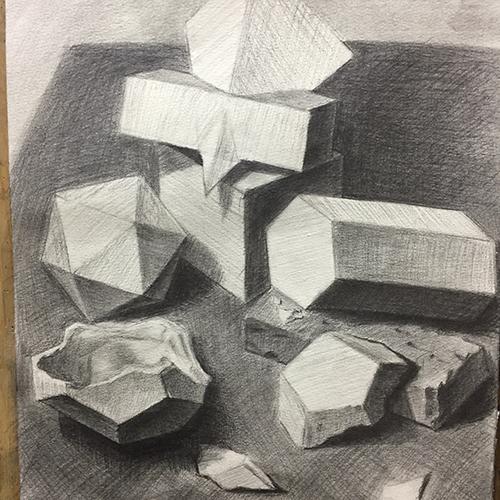 素描-多面體
