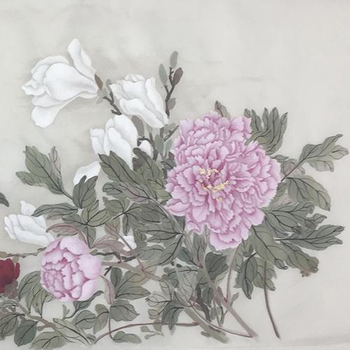 工笔-粉色玫瑰