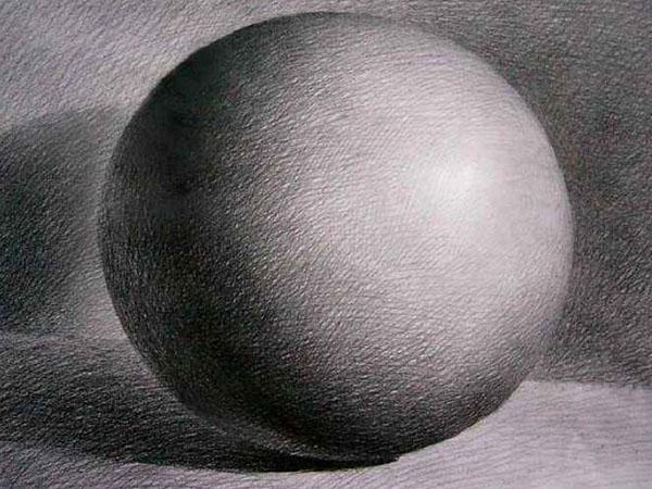 简单素描球体画教程