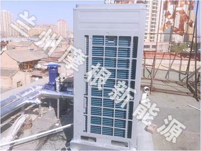 临夏市真诚公司安装空气源热泵工程