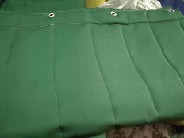 绿帆布棉门帘