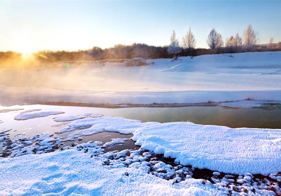 """兰州启源通风设备厂家分享零下40度不结冰!神奇""""不冻河""""形成奇特景观"""