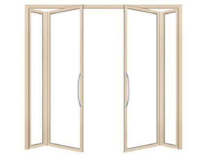 白银PVC折叠门的结构是怎么样的